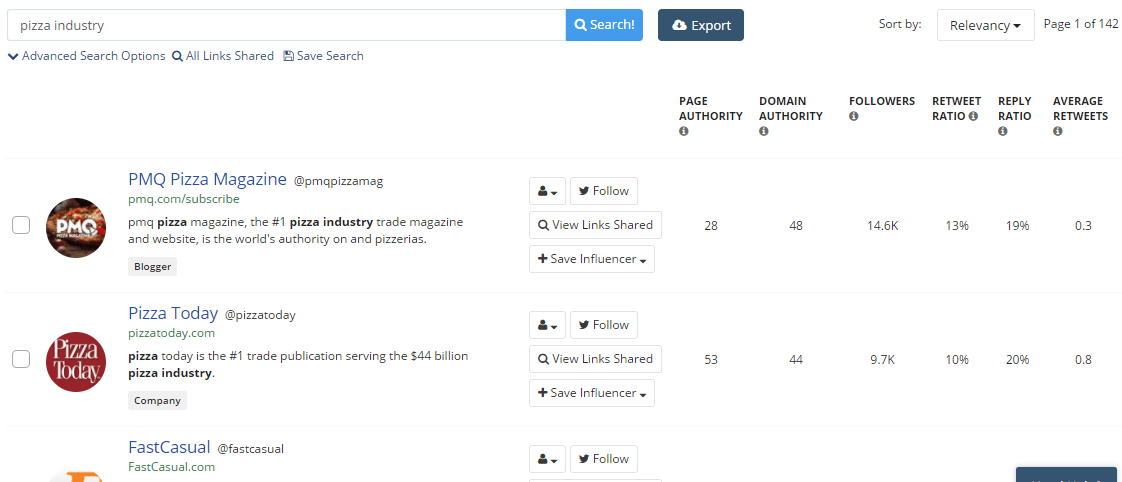 Buzzsumo - PublishersSearch